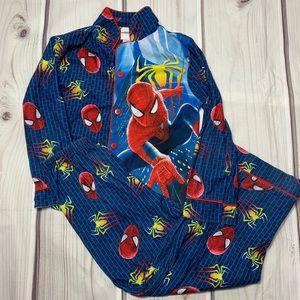 Spider Man 2 Button Down Flannel Pajamas